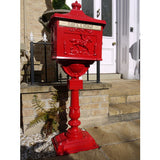 Post box on stand ground mounted