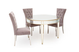 Romance mirrored round table