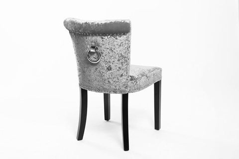Sandringham Upholstered Bedroom chair crushed velvet silver  click n collect