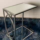 Freddie sofa table mirrored top silver or gold. 1 single table