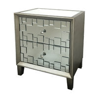 Viva 2 drawer mirrored bedside cabinets  Silver