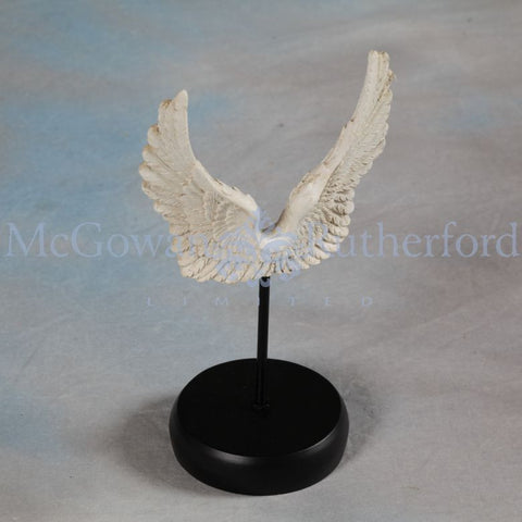 Angel wings on stand white