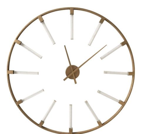 Beauly Gold Metal Round Wall Clock One Only