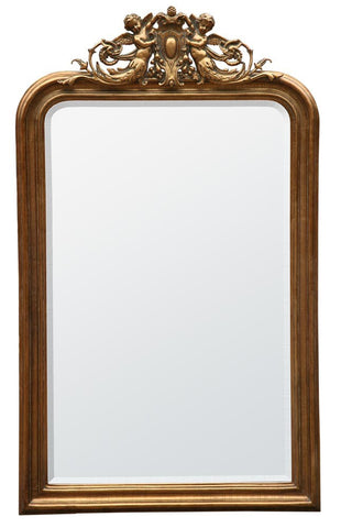 Cherub gold   large mirror