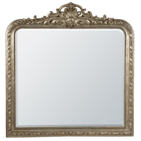 Silver  antiqued large mirror