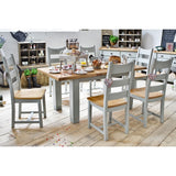 Daniel Weathered Oak Extending table with Elephant breath base ( or white )