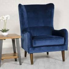 Freya occasional chair in navy royal