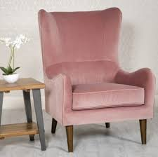 Freya occasional chair in blush pink