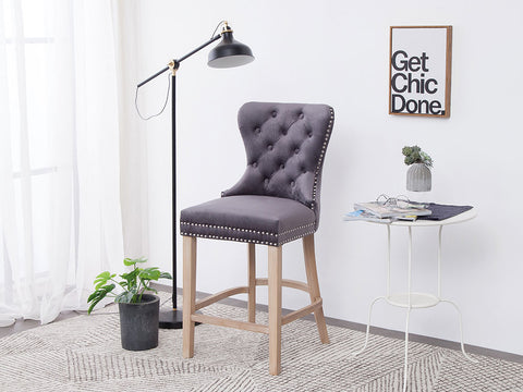 New !  Geneva  grey bar stool