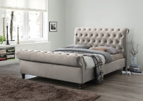Grace 6 ft Super King Bed in Champagne