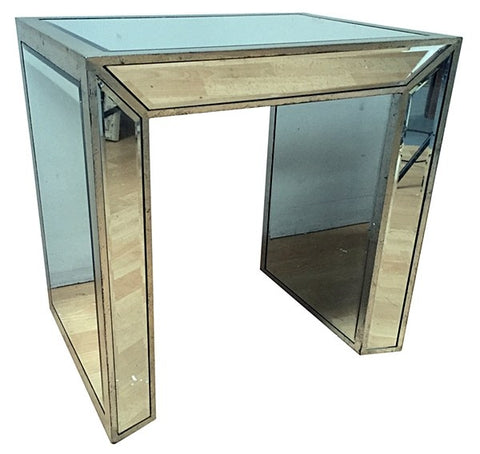 Large  Antiqued  mirrored side Table  126