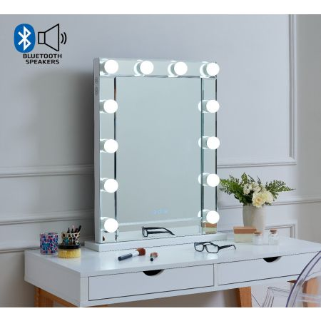 Hollywood Mirror with bluetooth and speaker desktop 80 x 60
