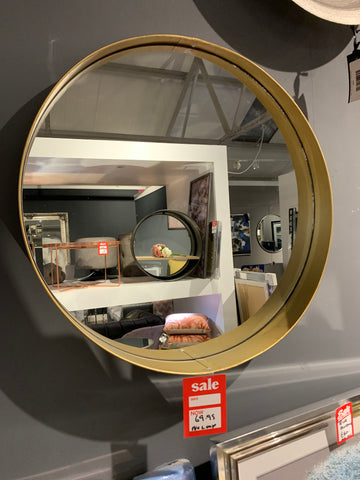 Antique Gold  round Mirror CLEARANCE (no loop ) Click N Collect