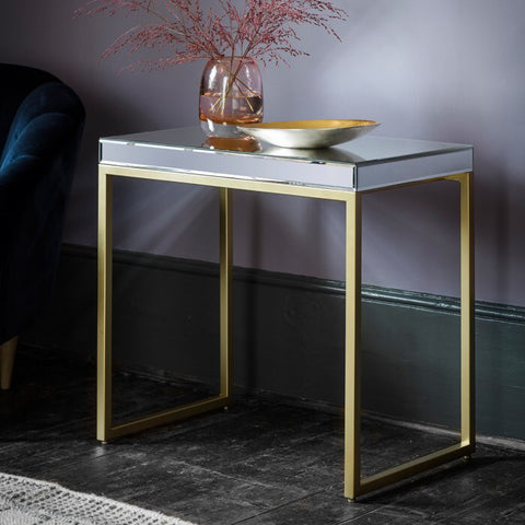 Pippa side table champagne