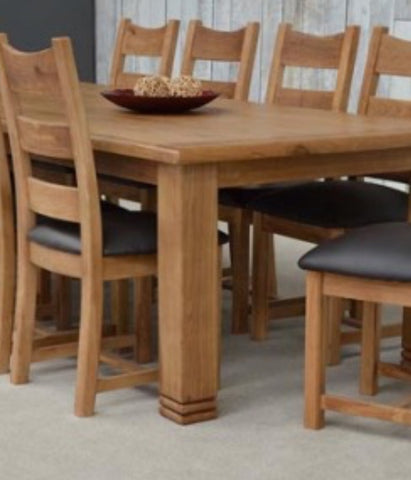 Daniel Weathered Oak Extending table with Matching base