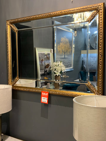 Fabulous gold trimmed mirror last one half price