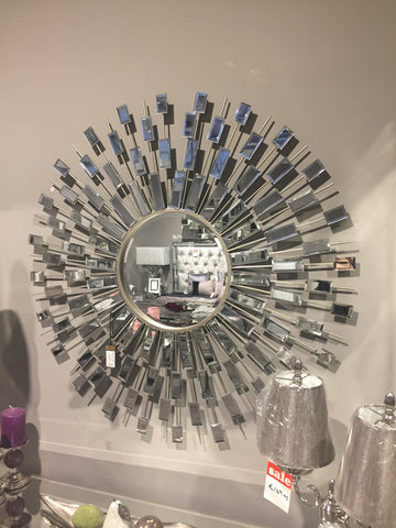 Sunburst Silver Wall Mirror 176