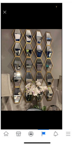 Jill prism mirror with gold trim