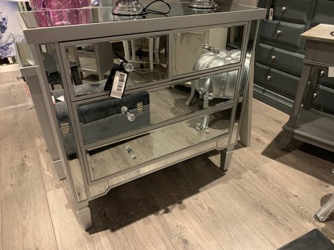 Vision mirrored chest with SILVER trim