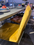 Soren velvet contemporary dining chair mustard special offer