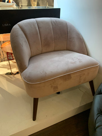 Vanessa blush  side chair  WAREHOUSE CLEARANCE