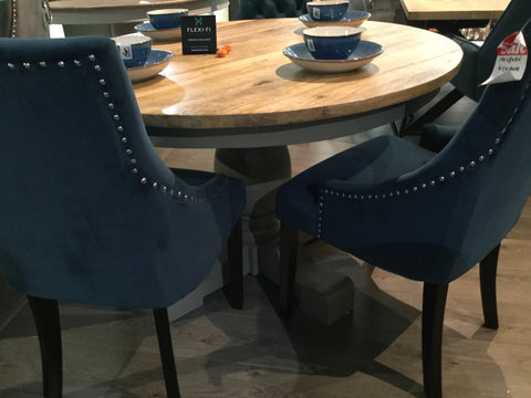 Midnight blue Holburn Dining Chair Dark Leg FABULOUS chair LOW price