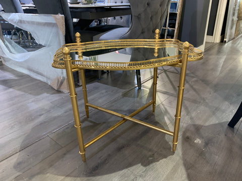 Gold Gilt  Coffee / Side Table with lift off tray reduced to clear Click N Drive thru