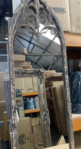 Fabulous rustic window mirror with arch