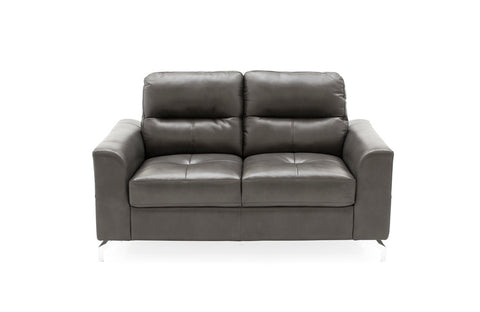 TANARO 2 plus 3 leathaire grey  sofa suite