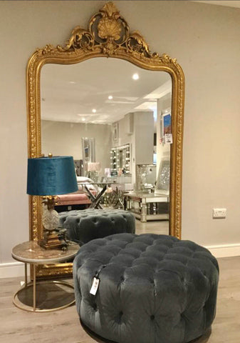 Rocaille Gold Gilt Leaf bevelled mirror