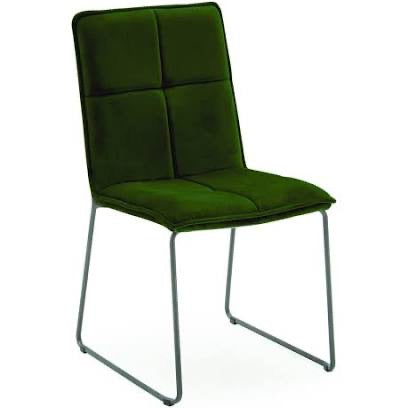 Soren velvet contemporary dining chair olive green