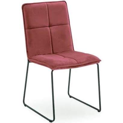 Soren velvet contemporary dining chair pink special price