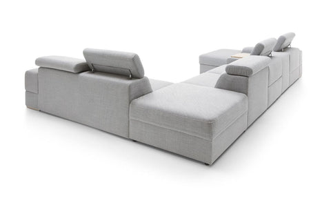 Plaza large MODULAR  corner sofa with headrests  297 x 207 cm in Latte TBC
