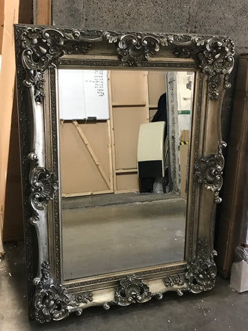 Silver French Mirror Medium