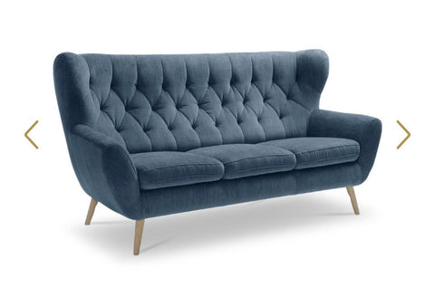 Vanessa sofas in Latte velvet or colour to choose options in drop down menu