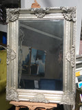Ornate French Mirror Silver last one clearance !