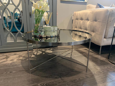 Hayden Allure grey round coffee table