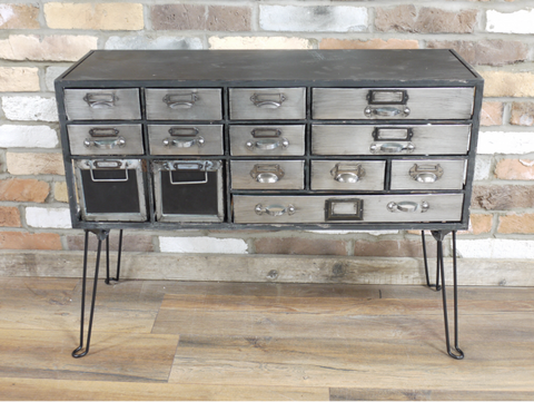 Metal cabinet sideboard retro industrial