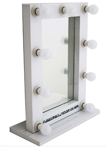 Hollywood Gatsby mirror medium white or silver