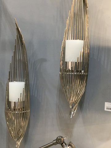 Chrome plated strand sconce