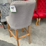 Eldridge Bar Chairs Stools Grey Linen Clearance see T&Cs ( sold is sets as last few )