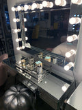 Hollywood large 15 bulb mirror wider