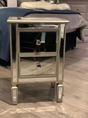 Mac Atlanta  2 Drawer Mirrored Bedside Cabinet