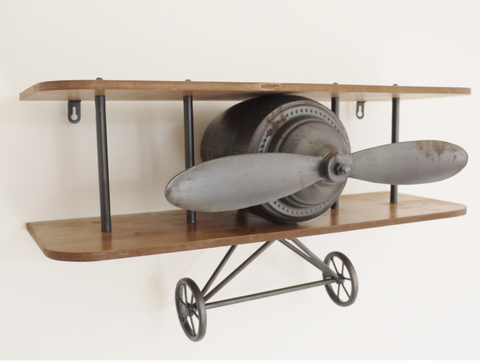 Industrial retro aeroplane shelf unit