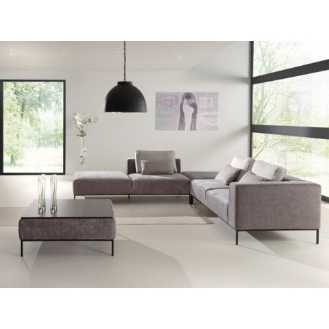 Bibi large contemporary corner sofa set with table