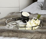 Round Nickel Mirror Tray Large 40.5 cm Click n Collect