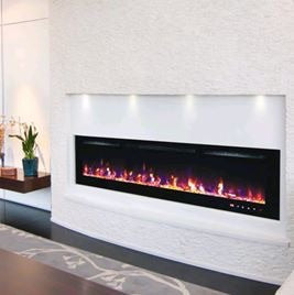 "Wall mounted LED Electric fire insets 50""/ 60 "" To order"