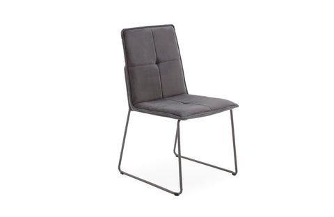 Soren velvet contemporary dining chair grey