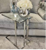 Sofa table chrome and glass Harriet.   limited availability Click N Collect only
