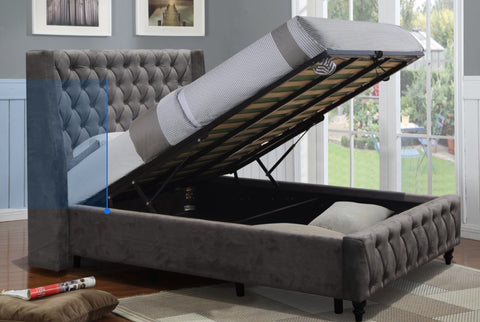 Jersey storage bed with wings